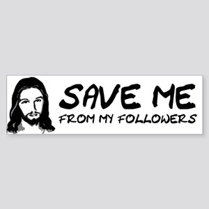 If You Don't Sin Jesus Died F Sticker (Bumper)